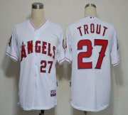 Wholesale Angels of Anaheim #27 Mike Trout White Cool Base Stitched Baseball Jersey