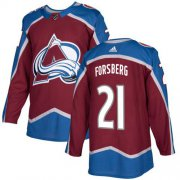 Wholesale Cheap Adidas Avalanche #21 Peter Forsberg Burgundy Home Authentic Stitched NHL Jersey