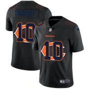 Wholesale Cheap Chicago Bears #10 Mitchell Trubisky Men's Nike Team Logo Dual Overlap Limited NFL Jersey Black