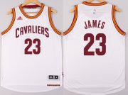 Wholesale Cheap Cleveland Cavaliers #23 LeBron James Revolution 30 Swingman 2014 New White Jersey