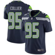 Wholesale Cheap Nike Seahawks #95 L.J. Collier Steel Blue Team Color Men's Stitched NFL Vapor Untouchable Limited Jersey
