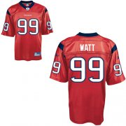 Wholesale Cheap Texans #99 J.J.Watt Red Stitched NFL Jersey