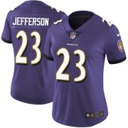 Wholesale Cheap Nike Ravens #23 Tony Jefferson Purple Team Color Women's Stitched NFL Vapor Untouchable Limited Jersey