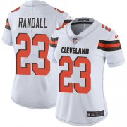 Wholesale Cheap Nike Browns #23 Damarious Randall White Women's Stitched NFL Vapor Untouchable Limited Jersey