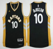 Wholesale Cheap Men's Toronto Raptors #10 Demar DeRozan Revolution 30 Swingman 2015-16 Black Jersey