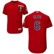 Wholesale Cheap Twins #6 Tony Oliva Red Flexbase Authentic Collection Stitched MLB Jersey