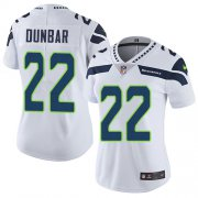 Wholesale Cheap Nike Seahawks #22 Quinton Dunbar White Women's Stitched NFL Vapor Untouchable Limited Jersey