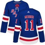 Wholesale Cheap Adidas Rangers #11 Mark Messier Royal Blue Home Authentic Women's Stitched NHL Jersey