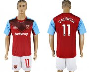 Wholesale Cheap West Ham United #11 Valencia Home Soccer Club Jersey