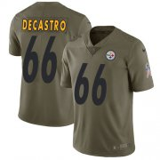 Wholesale Cheap Nike Steelers #66 David DeCastro Olive Youth Stitched NFL Limited 2017 Salute to Service Jersey