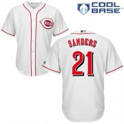 Wholesale Cheap Reds #21 Reggie Sanders White Cool Base Stitched Youth MLB Jersey