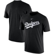 Wholesale Cheap Los Angeles Dodgers Nike Batting Practice Logo Legend Performance T-Shirt Black
