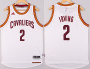 Wholesale Cheap Cleveland Cavaliers #2 Kyrie Irving Revolution 30 Swingman 2014 New White Jersey