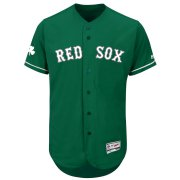 Wholesale Cheap Boston Red Sox Majestic St. Patrick's Day Flex Base Authentic Collection Celtic Team Jersey Green