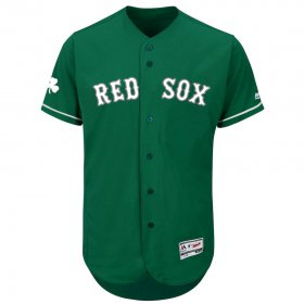 Wholesale Cheap Boston Red Sox Majestic St. Patrick\'s Day Flex Base Authentic Collection Celtic Team Jersey Green