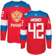 Wholesale Cheap Team Russia #42 Artem Anisimov Red 2016 World Cup Stitched NHL Jersey