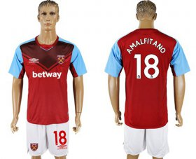 Wholesale Cheap West Ham United #18 Amalfitano Home Soccer Club Jersey