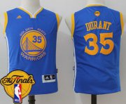 Wholesale Cheap Men's Warriors #35 Kevin Durant Blue 2017 The Finals Patch Stitched NBA Jersey