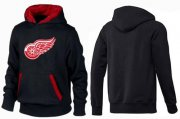 Wholesale Cheap Detroit Red Wings Pullover Hoodie Black & Red