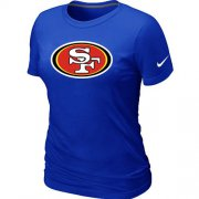 Wholesale Cheap Women's Nike San Francisco 49ers Logo NFL T-Shirt Blue