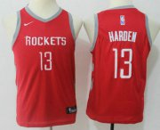 Cheap Youth Houston Rockets #13 James Harden New Red 2017-2018 Nike Swingman Stitched NBA Jersey