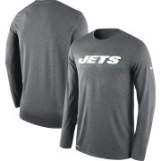 Wholesale Cheap New York Jets Nike Sideline Seismic Legend Long Sleeve T-Shirt Charcoal