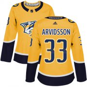 Wholesale Cheap Adidas Predators #33 Viktor Arvidsson Yellow Home Authentic Women's Stitched NHL Jersey
