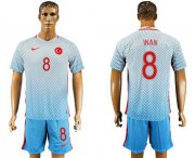 Wholesale Cheap Turkey #8 Inan Away Soccer Country Jersey