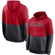 Wholesale Cheap Tampa Bay Buccaneers Nike Sideline Impact Lockup Performance Pullover Hoodie Red Pewter