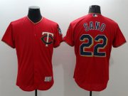 Wholesale Cheap Twins #22 Miguel Sano Red Flexbase Authentic Collection Stitched MLB Jersey