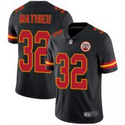 Wholesale Cheap Nike Chiefs #32 Tyrann Mathieu Black Men's Stitched NFL Limited Rush Jersey