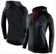 Wholesale Cheap Women's Nike Indianapolis Colts Full-Zip Performance Hoodie Black