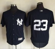 Wholesale Cheap Yankees #23 Don Mattingly Navy Blue Flexbase Authentic Collection Stitched MLB Jersey