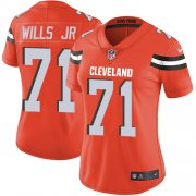 Wholesale Cheap Nike Browns #71 Jedrick Wills JR Orange Alternate Women's Stitched NFL Vapor Untouchable Limited Jersey