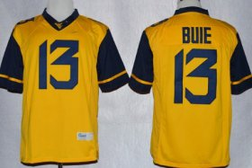 Wholesale Cheap West Virginia Mountaineers #13 Andrew Buie 2013 Yellow Limited Jersey