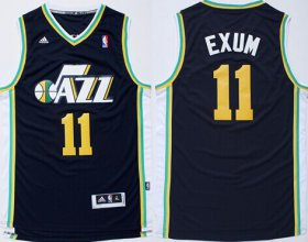 Wholesale Cheap Utah Jazz #11 Dante Exum Revolution 30 Swingman Navy Blue Jersey