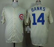 Wholesale Cubs #14 Ernie Banks Cream 1969 Turn Back The Clock Stitched Baseball Jersey