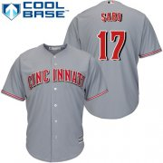 Wholesale Cheap Reds #17 Chris Sabo Grey Cool Base Stitched Youth MLB Jersey