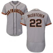 Wholesale Cheap Giants #22 Andrew McCutchen Grey Flexbase Authentic Collection Road Stitched MLB Jersey