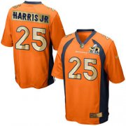 Wholesale Cheap Nike Broncos #25 Chris Harris Jr Orange Team Color Men's Stitched NFL Game Super Bowl 50 Collection Jersey