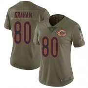 Wholesale Cheap Nike Bears #80 Jimmy Graham Olive Women's Stitched NFL Limited 2017 Salute To Service Jersey