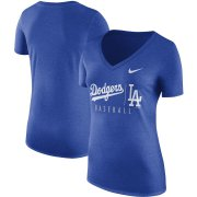 Wholesale Cheap Los Angeles Dodgers Nike Women's Tri-Blend Practice T-Shirt Royal