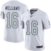 Wholesale Cheap Nike Raiders #16 Tyrell Williams White Men's Stitched NFL Limited Rush Jersey