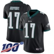 Wholesale Cheap Nike Eagles #17 Alshon Jeffery Black Alternate Men's Stitched NFL 100th Season Vapor Limited Jersey