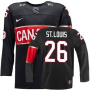 Wholesale Cheap Olympic 2014 CA. #26 Martin St. Louis Black Stitched NHL Jersey