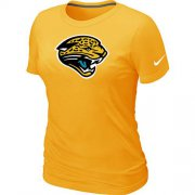 Wholesale Cheap Women's Nike Jacksonville Jaguars Logo NFL T-Shirt Yellow
