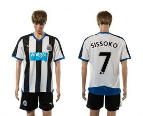 Wholesale Cheap Newcastle #7 Sissoko Home Soccer Club Jersey
