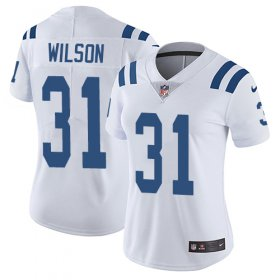 Wholesale Cheap Nike Colts #31 Quincy Wilson White Women\'s Stitched NFL Vapor Untouchable Limited Jersey