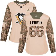 Wholesale Cheap Adidas Penguins #66 Mario Lemieux Camo Authentic 2017 Veterans Day Women's Stitched NHL Jersey