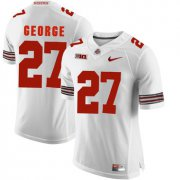 Wholesale Cheap Ohio State Buckeyes 27 Eddie George White College Football Jersey